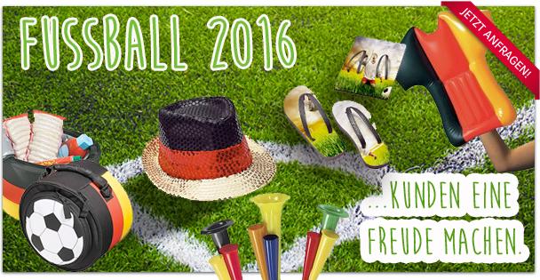Werbeartikel zum Fussball-Event