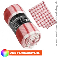 Fleece Blanket Checked - Fleecedecken mit Werbung.