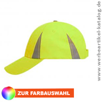 Safety Cap -  6 Panel Werbecap mit reflektierenden Elementen.