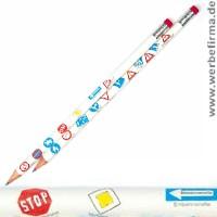 Verkehrszeichen bleistift sinnvolle streuartikel zur einschulung oder