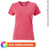 Ladies Slim Fit T - Werbeshirts in bunten Farben.