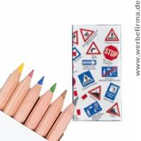 Verkehrszeichen buntstifte für kinder werbeartikel die sinn machen