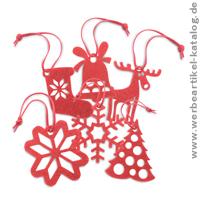 weihnachtsbaumanh nger rouge als werbeartikel f r weihnachten. Black Bedroom Furniture Sets. Home Design Ideas